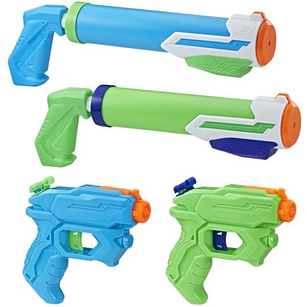 Pistolets à eau Pack de 4 Nerf Super Soaker Floodtastic