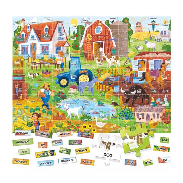 Puzzle anglais facile 100 mots la ferme