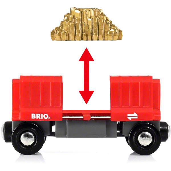 Brio World 33938-Wagon Cargo rouge
