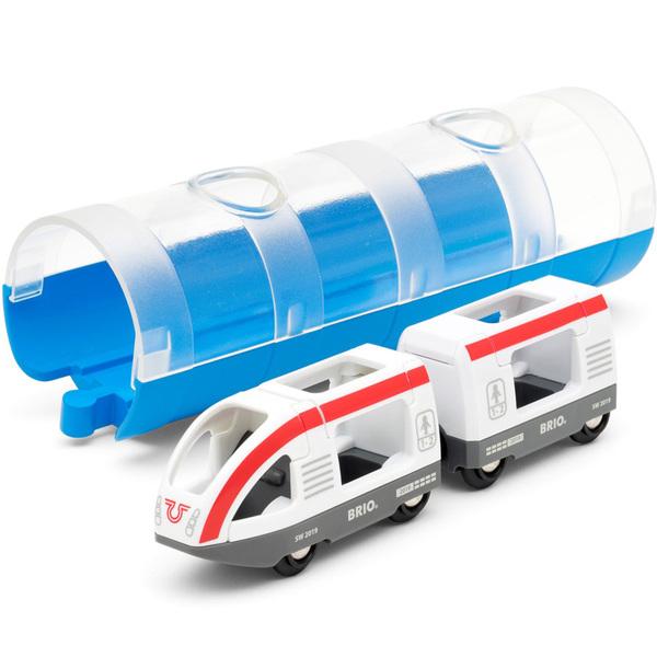 Brio World 33890-Train de voyageurs avec tunnel
