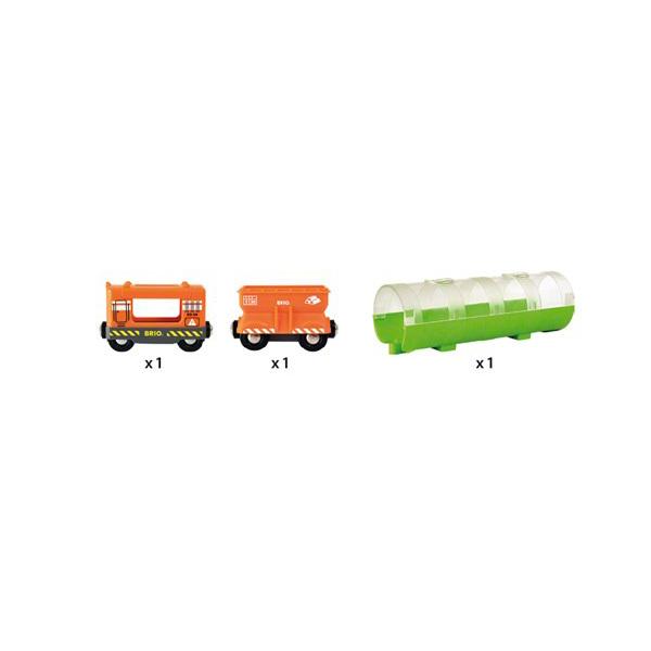 Brio World 33891-Train cargo avec tunnel