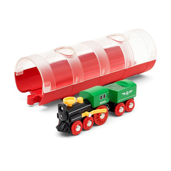 Brio World 33892-Train à vapeur avec tunnel