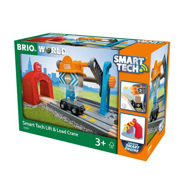 Brio World Smart Tech-Grue de marchandises avec tunnel
