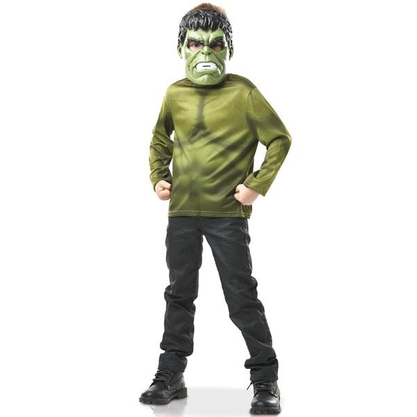 Avengers-Plastron avec masque Hulk 3/6 ans