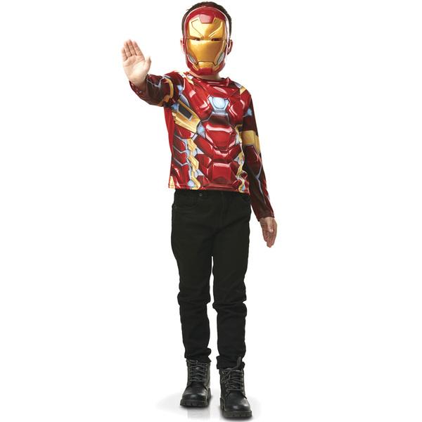 Déguisement Plastron avec masque Iron Man 3/6 ans - Avengers
