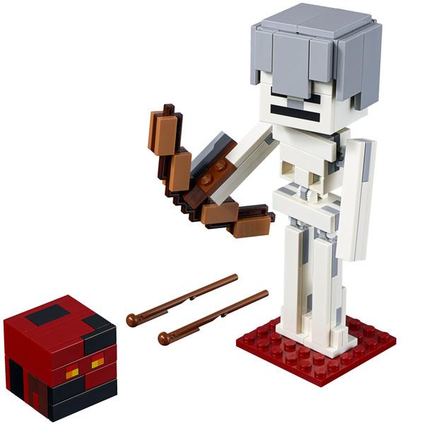 21150-LEGO®  Bigfigurine Minecraft Squelette avec un cube de magma