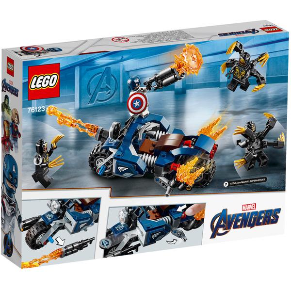 Avengers Des L'attaque Et Lego® 76123 America Captain Marvel Outriders 43qc5ARLSj