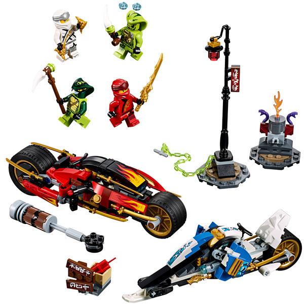 70667 lego ninjago legacy la moto de kai et le scooter des neiges de zane lego king jouet. Black Bedroom Furniture Sets. Home Design Ideas
