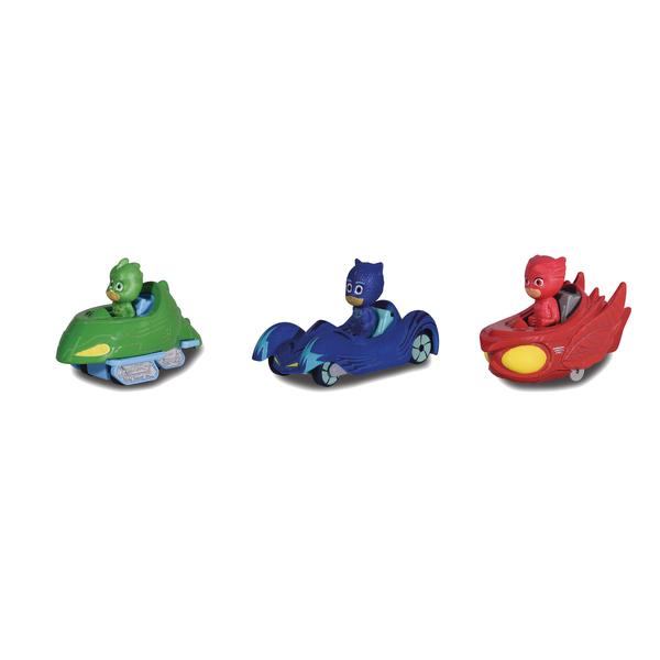 Coffret 3 figurines Pyjamasques et véhicules