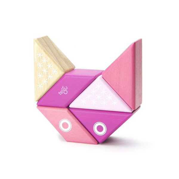 Blocs de bois Tegu Pocket aimanté Buddy Chaton