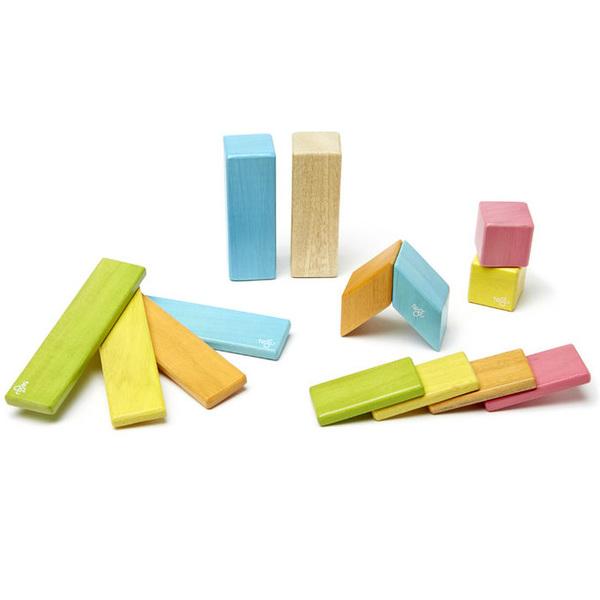 Blocs de bois Tegu Tints 14 pièces