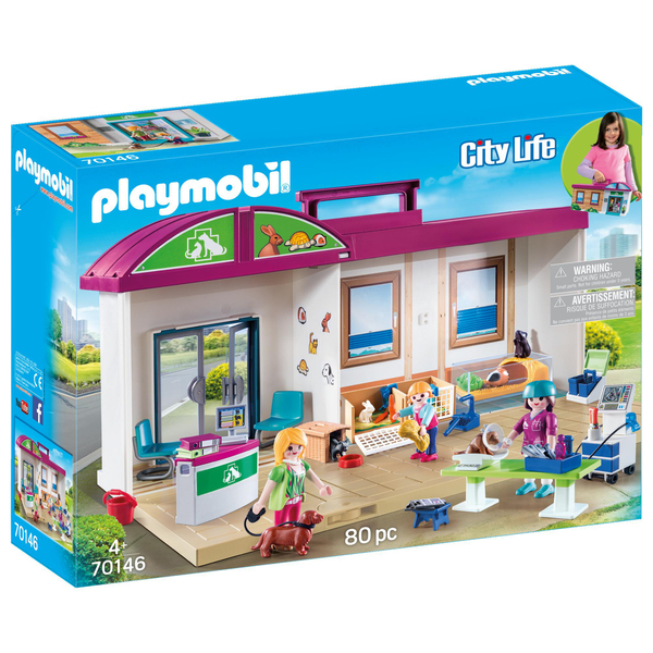 70146 - Playmobil City Life - Clinique vétérinaire transportable
