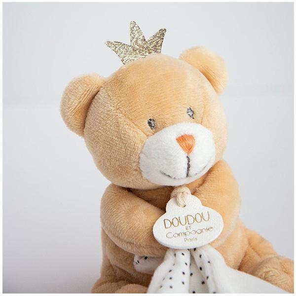 Doudou mouchoir ours petit roi