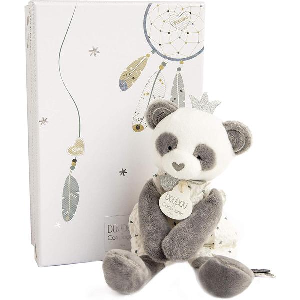 Doudou attrape-rêve panda pantin
