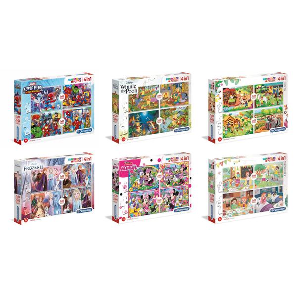 Puzzles 4 en 1 Supercolor assortiment