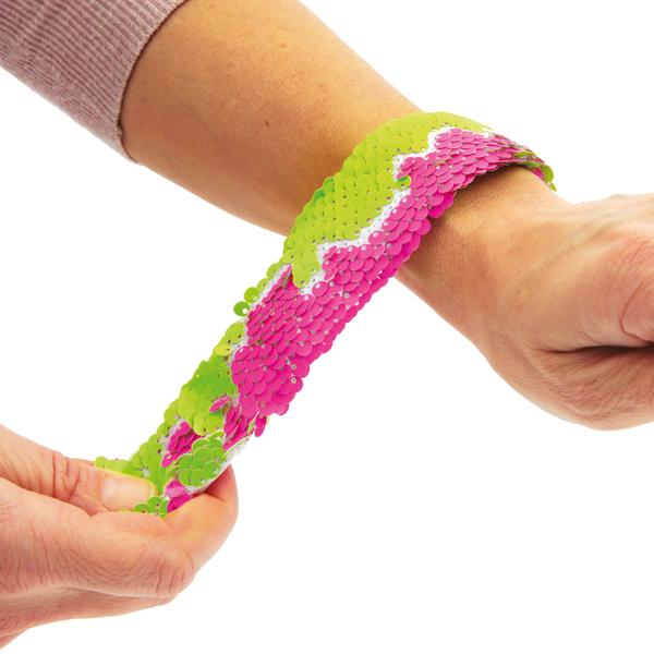 Bracelet fluo sequins