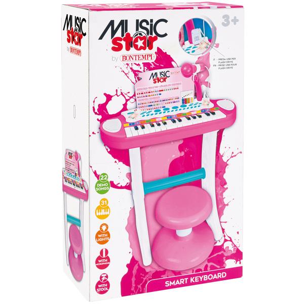 Orgue électronique rose sur pied