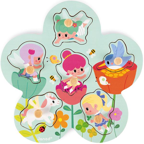 Puzzle en bois Happy Fairies 6 pièces