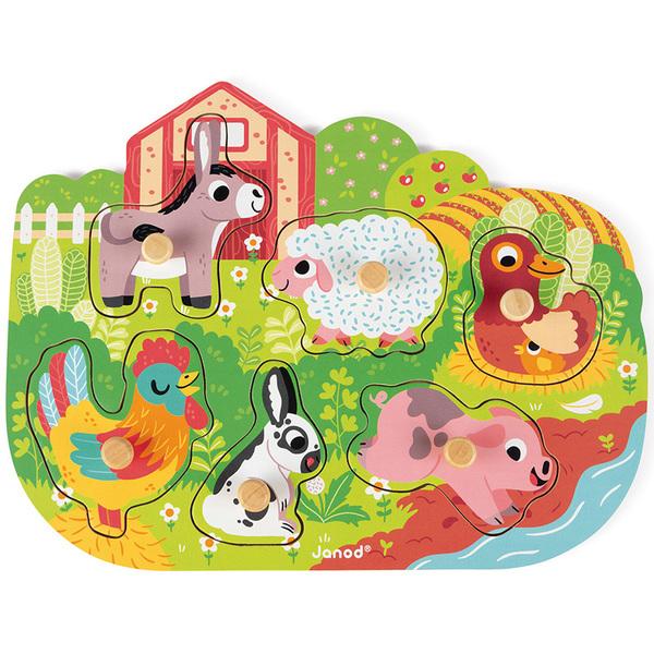 Puzzle en bois Happy Farm 6 pièces