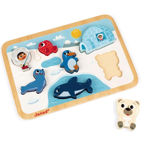 Puzzle en bois Chunky Arctique 7 pièces
