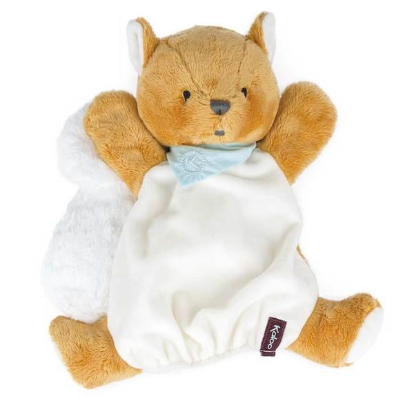Les Amis - Biscotte écureuil Doudou marionnette 30 cm