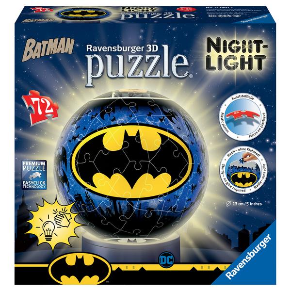 Batman - Puzzle 3D rond 72 pièces illuminé
