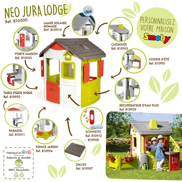 Maison de jardin neo jura lodge personnalisable - 7 accessoires à ajouter