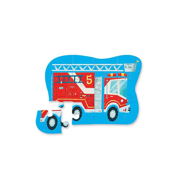 Puzzle 12 pièces camion de pompier