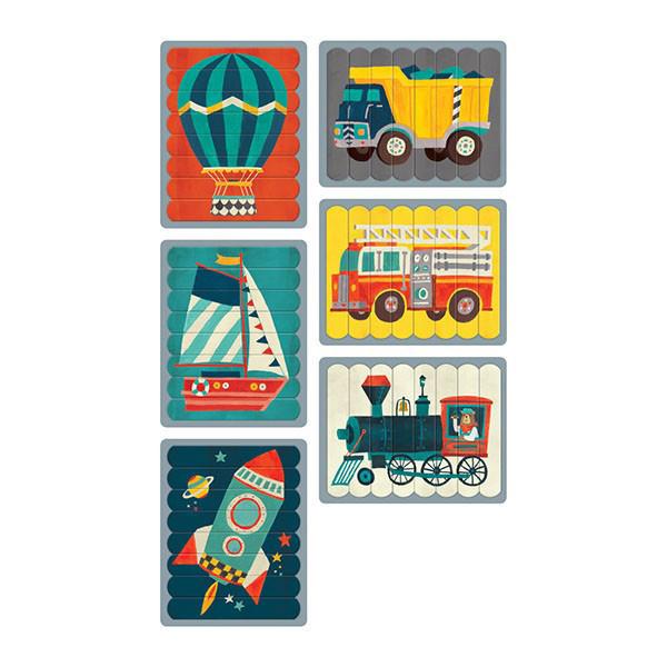 Puzzles Sticks transportation