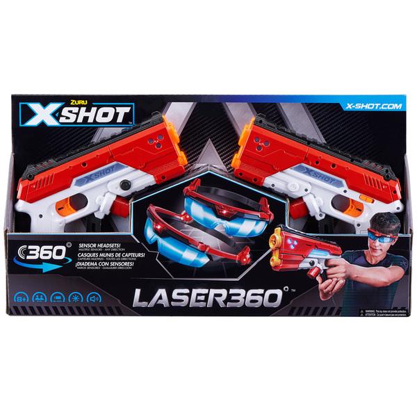 Coffret de 2 pistolets laser avec lunettes