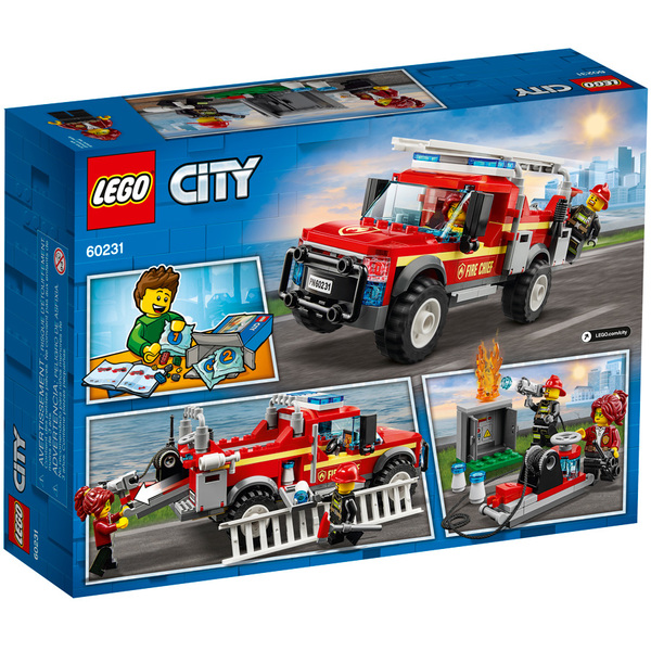 Town 60231 Pompiers Chef Des Du Camion Lego® City Le srQthd