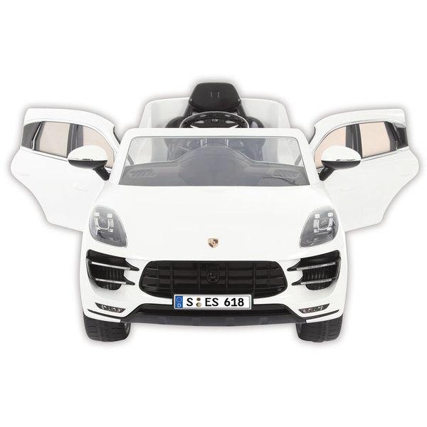 Voiture électrique Porsche Macan 6V blanche avec télécommande