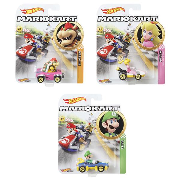 Véhicules Hot Wheels Mario Kart