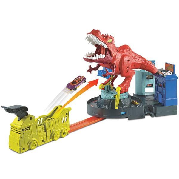 Hot Wheels City-T-rex en furie