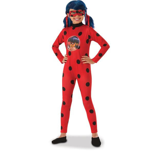 Déguisement Ladybug avec perruque 3/4 ans