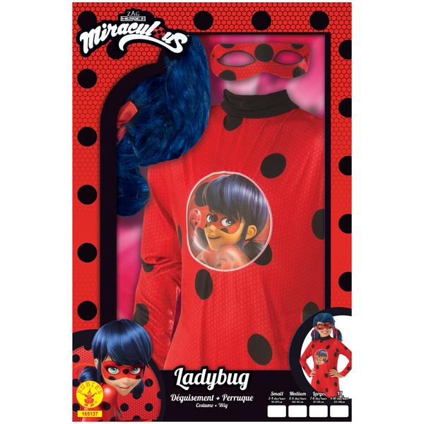 Déguisement Ladybug avec perruque 5/6 ans
