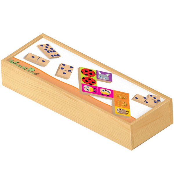 Dominos en bois double face