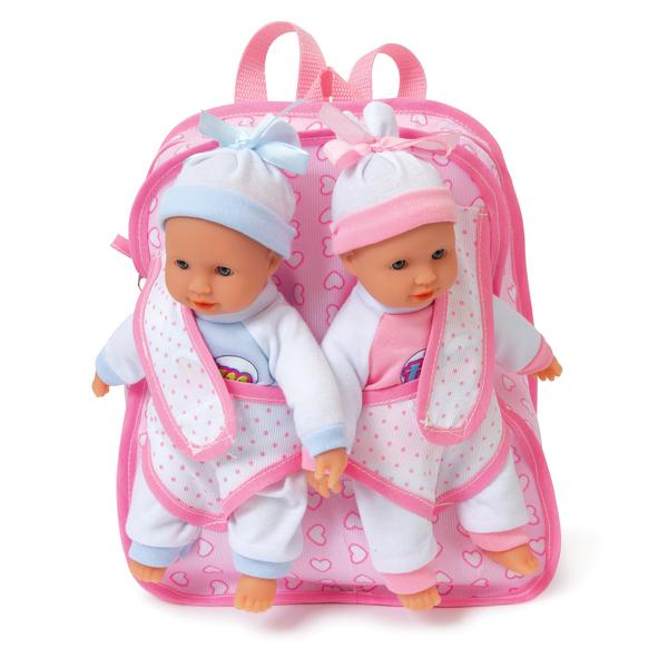 Poupons jumeaux avec sac à dos