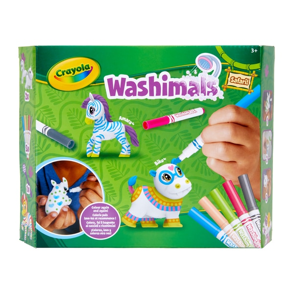 Washimals - Mes animaux à colorier à l'infini safari