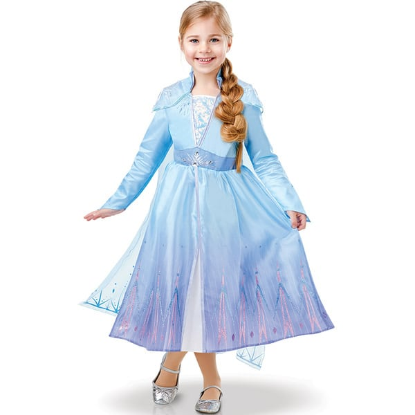 Déguisement luxe Elsa La Reine des Neiges 2 5/6 ans