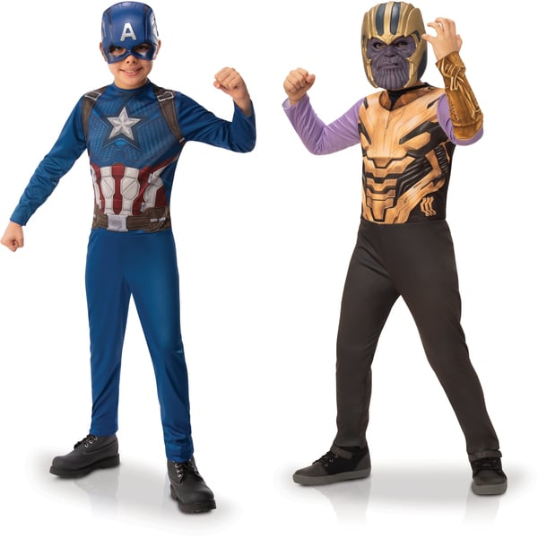 Avengers - Panoplies Thanos et Captain America 7-8 ans