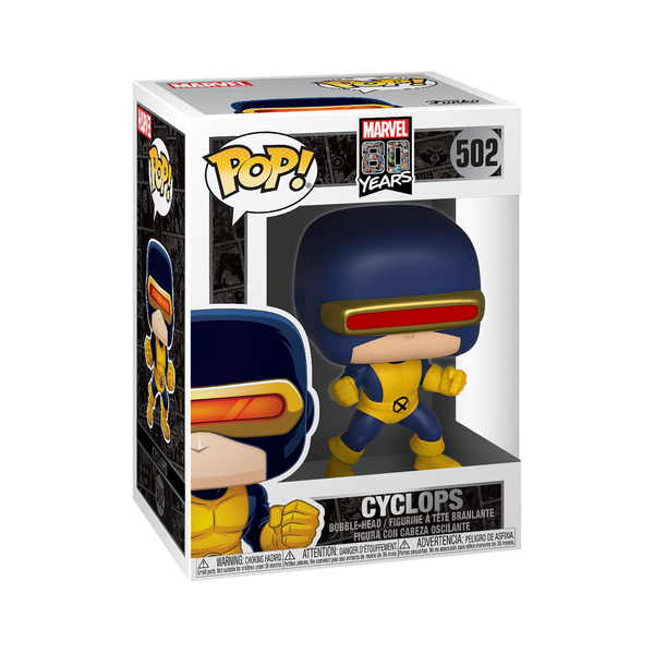 Figurine Cyclops 502 80 ans de Marvel Funko Pop