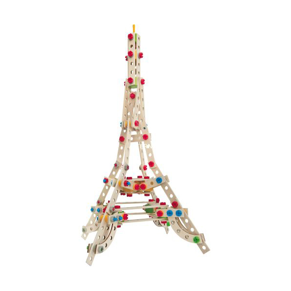 Jeu de construction en bois Eichhorn Constructor 300 pièces Tour Eiffel
