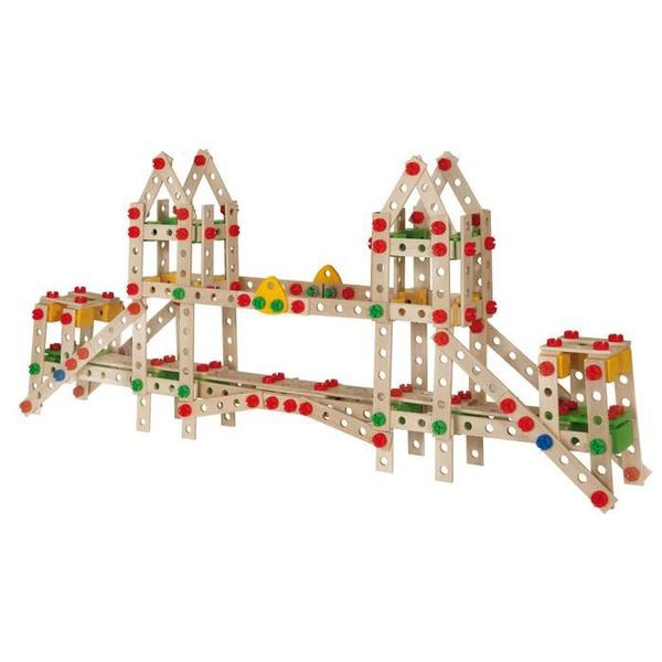 Jeu de construction en bois Eichhorn Constructor 444 pièces Golden Gate