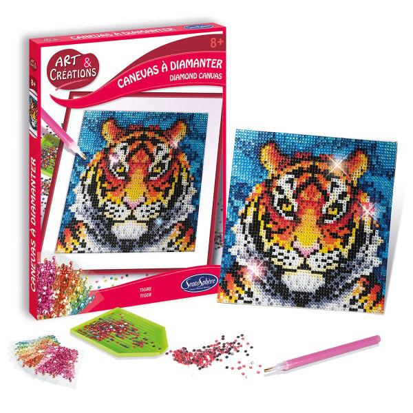 Art et Créations - Canevas à diamanter Tigre