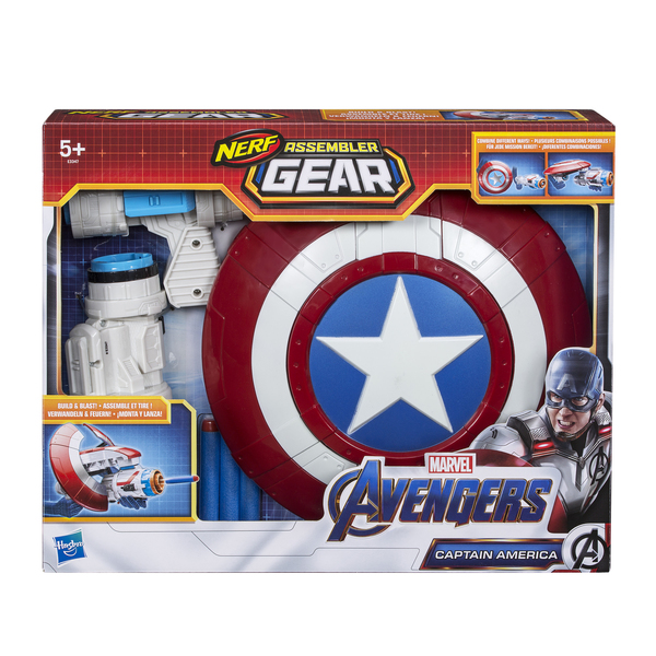 Assembler Gear 2.0 Captain America et fléchettes Nerf - Disney Avengers