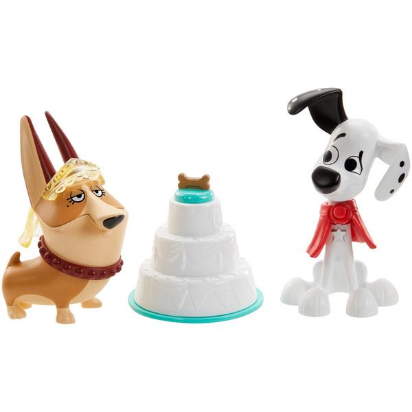 Pack 2 figurines 7 cm et 3 accessoires Disney Les 101 Dalmatiens