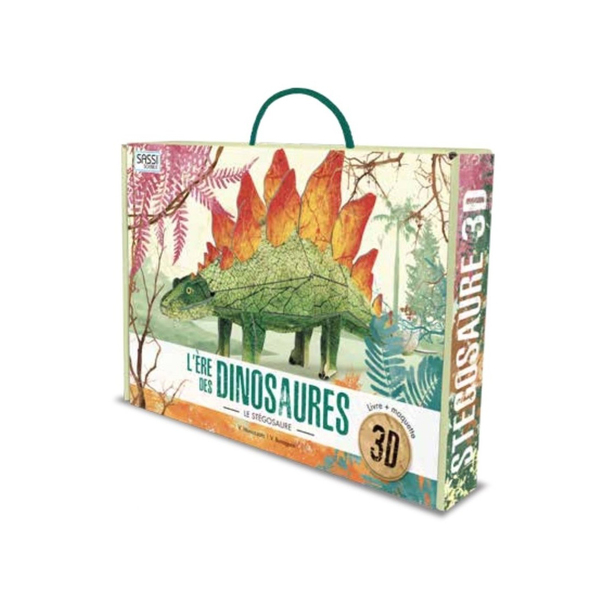 Livre et Maquette 3D L'ère des dinosaures Stégosaure
