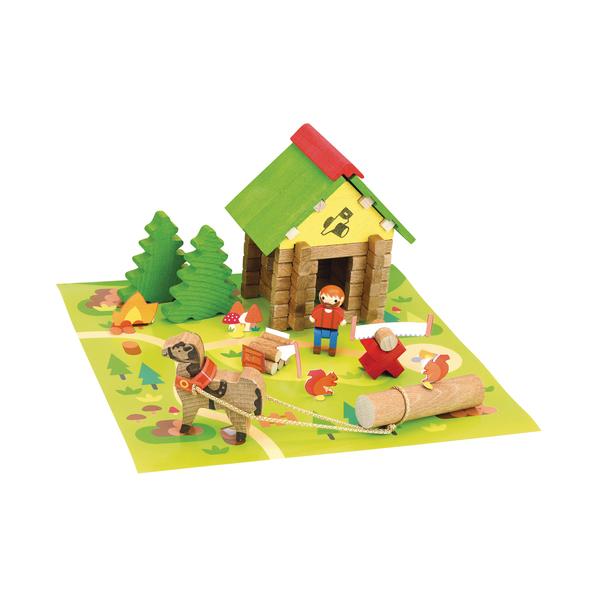 Maison bûcheron en bois 50 pièces