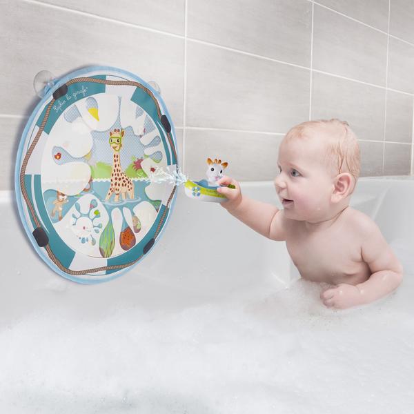 Tableau de bain magique avec arroseur de bain Sophie la girafe